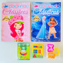 2 Revistas Colorir Menina Lápis De Cor Massinha