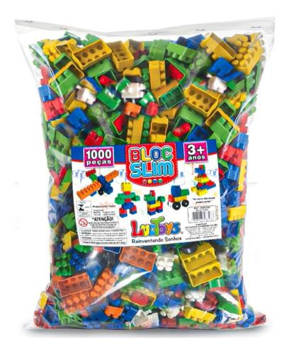 Blocos De Montar Didático 1000 Peças Brinquedo Educativo