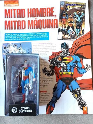 Figura De Colección Dc Superhéroes Cyborg Superman