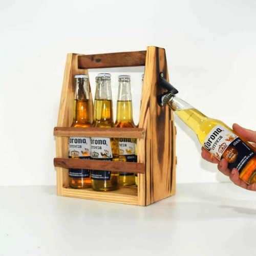Porta Six Pack + Destapador . Porta Cervezas