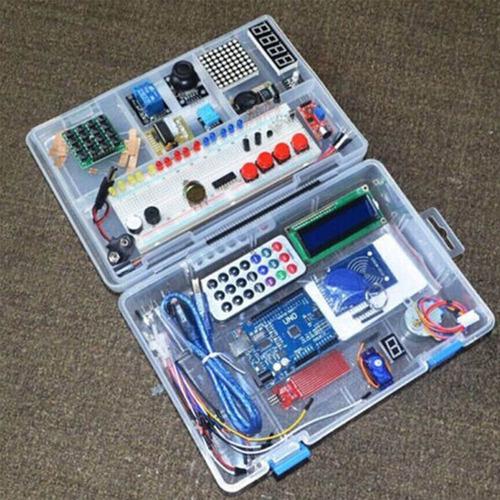 Kit De Aprendizaje Arduino Uno Rfid Servo Motor Sensor Temperatura Distancias Movimiento Y Mas