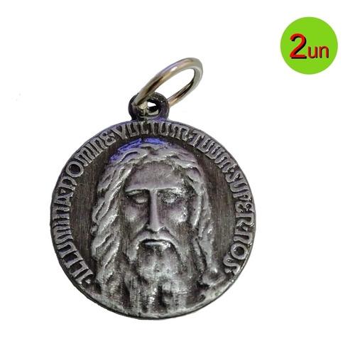 2 X Medalhas Da Sagrada Face De Jesus Em 3d