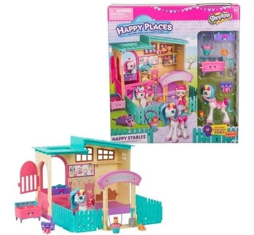 Shopkins Happy Places Playset Establo Gde Int 56688 Original