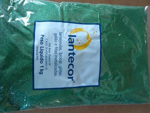 Glitter / Purpurina Lantecor Pct 1kg Cores Diversas.