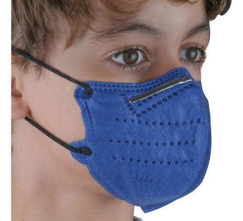 Kit 10 Máscaras N95 Infantil 5 Camadas De Proteção Pff2