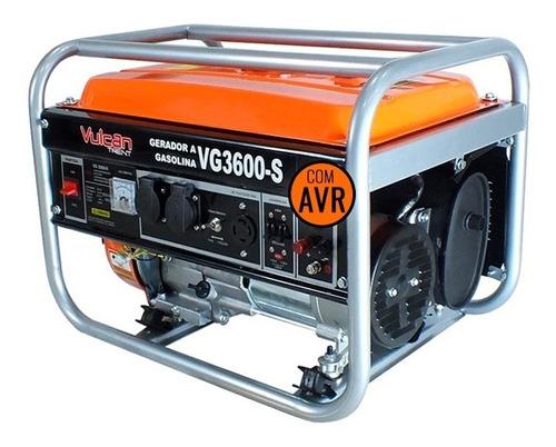 Gerador Gasolina 3,6kva 4t Partida Manual Biv Vg3600s Vulcan
