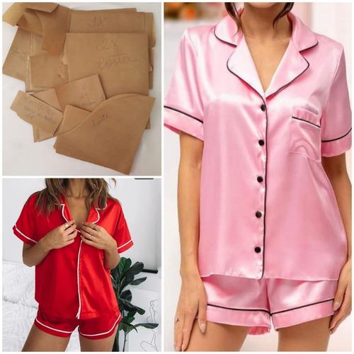 Moldes De Pijamas Curtos - Aberto Feminino