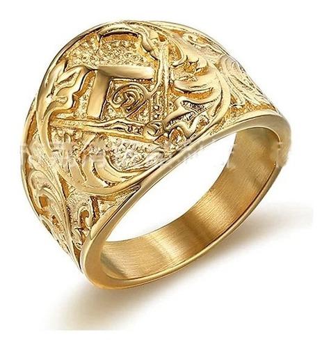 Anel Maçonaria Ouro