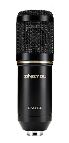 Micrófono Zingyou Bm-800 Condensador Cardioide Black