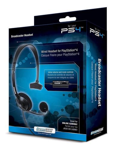 Fone E Microfone Headset Broadcaster Para Ps4 Da Dream Gear