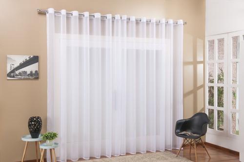 Cortina Voal Transparente Para Sala Ou Quarto 2,80 X 1,70