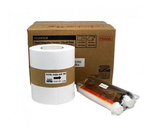 Papel + Ribbon 10x15 Para Impressora Fuji Ask 300 400 Fotos