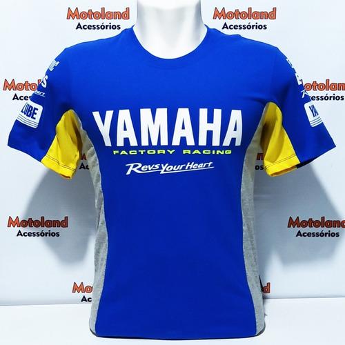 Camisa Yamaha Azul Royal R1 R3 R6 Mt 03 07 09 Moto Gp 261