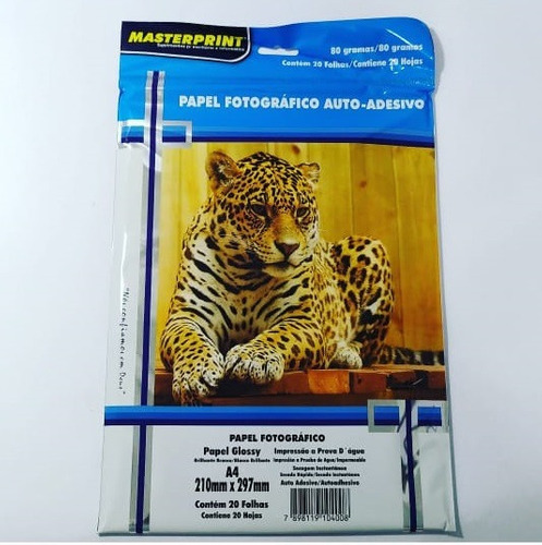 Papel Fotográfico Adesivo Premium 80 Gramas A4