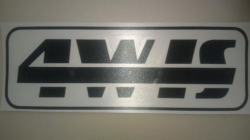 Emblema Gurgel Adesivo 4w-is 4wis Carajás X12 Tocantins Pr