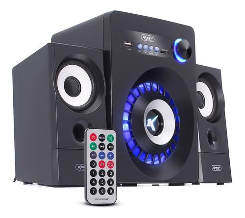 Caixa De Som Subwoofer Surround 2.1 Bluetooth Usb P2 Tv Pc