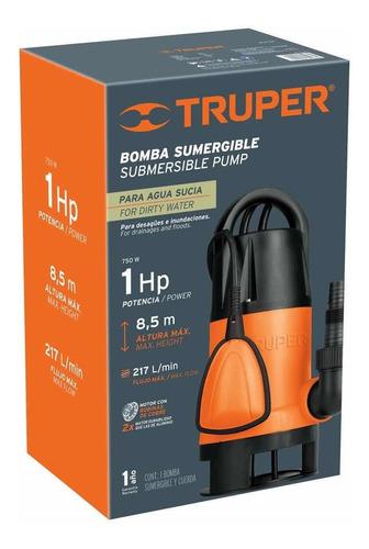 Bomba Sumergible Para Agua Sucia 1hp Truper