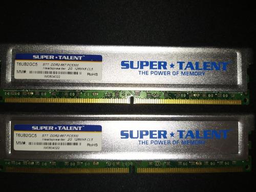 Memoria Ram Super Talent 2gb Ddr2 667 Usada