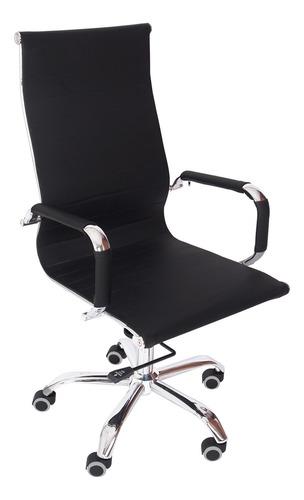 Cadeira Presidente Office Preta Tl-cde-10-1 Trevalla