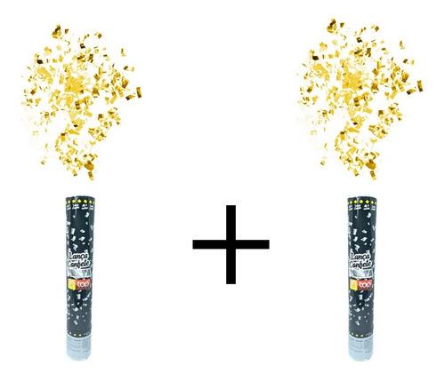 Lança Confete Festa - Metalizado - Varias Cores - 2 Unidades
