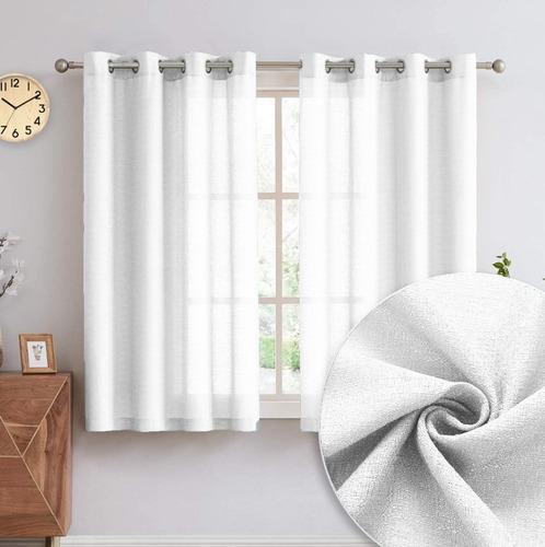 Cortina Tecido Textura Janela Sala Quarto 2,80 X 1,60 Branco