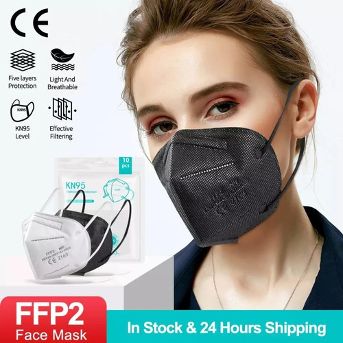 Kit 20 Máscaras Kn95 Proteção 5 Camada Respiratória Pff2 N95