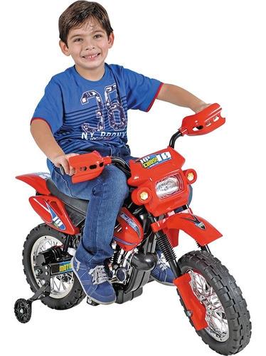 Moto Elétrica Infantil Motocross 6v Recarregável Resistente