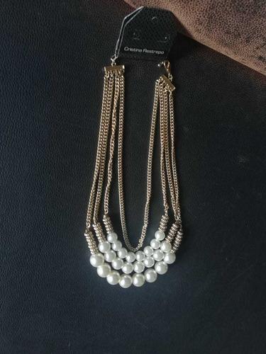 Collar Perlas De Fantasia De Cristina Restrepo