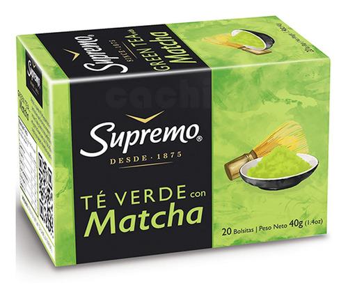 Te Supremo Verde Con Matcha X 20 Saquitos