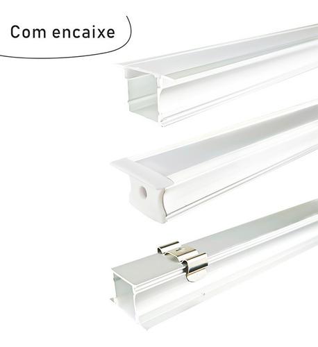 Perfil De Led Embutir 25mm Premium 2m Cores Ideal Projeto