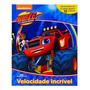 Livro Blaze Monster Machines Cenário Gigante 12 Miniaturas