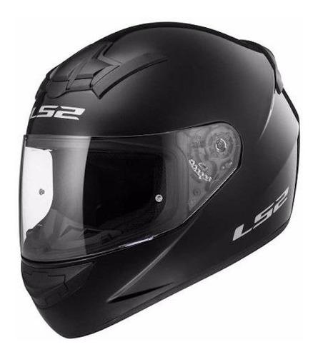Casco Para Moto Integral Ls2 Rookie Solid Gloss Black Talle Xl