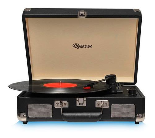 Vitrola Toca Discos Sonetto Preto Raveo Usb Bluetooth