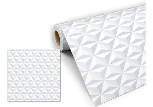 Papel De Parede Auto Adesivo Listrado Geométrico Rolo 10 M