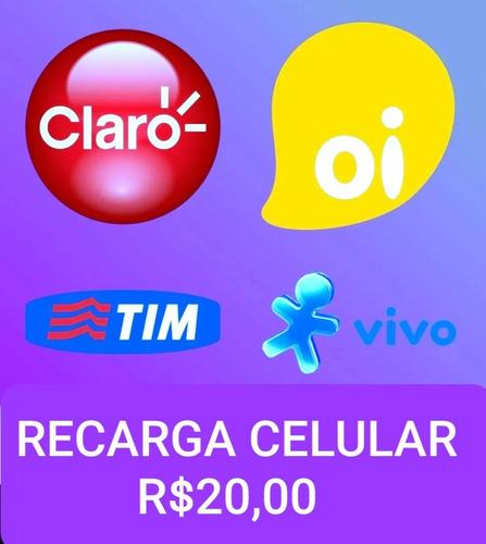 Recarga Celular Crédito Online Claro Oi Tim E Vivo Brasil