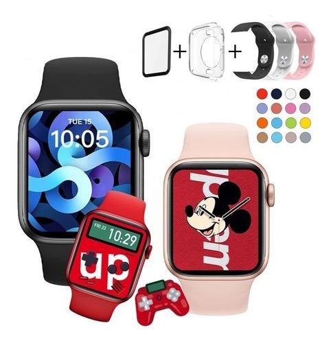 Smartwatch Ak76 Pro Jogos 63 Faces Foto Com Pulseiras E Capa