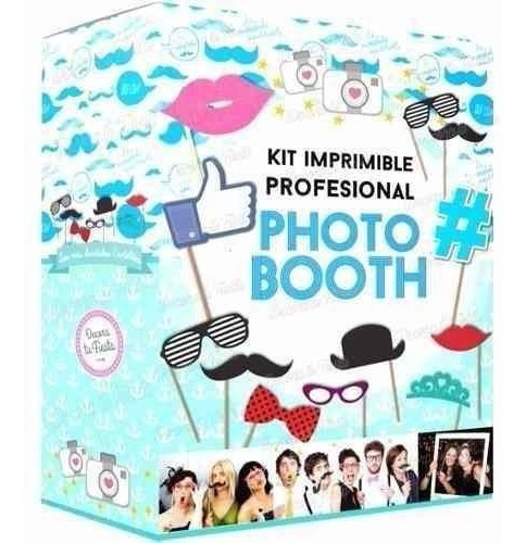Kit Imprimible Photo Booth Props Bodas 15 Años Baby