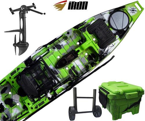 Caiaque Iron + Pedal Power Drive - Milha Box - Carrinho