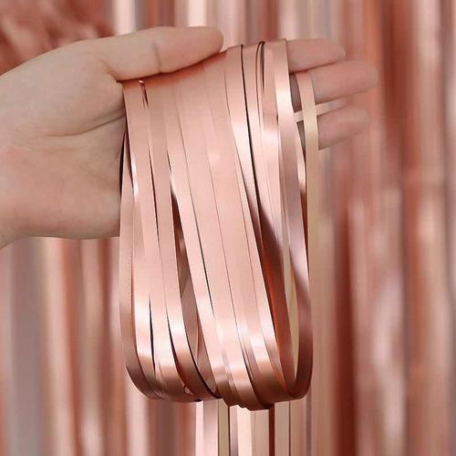 Cortina Metalizada Matte Para Decoracion Eventos 1x2m