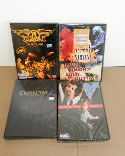 Nirvana Aerosmith Smashing Pumkin Eminem Pack 4 Dvd Nuevos