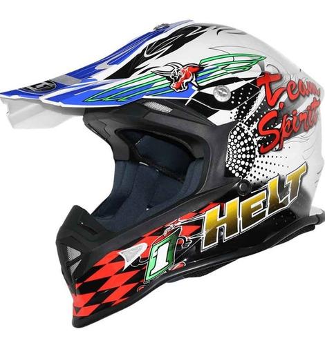 Capacete Helt Cross Mx Motocross Enduro Trilha