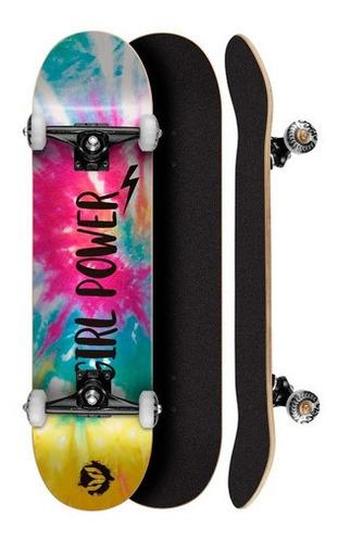 Skate Montado 8.0 Abec 5 Profissional Cisco Feminino Tie Dye