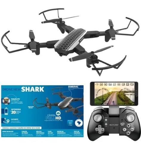 Drone Multilaser New Shark Es328 Com Câmera Full Hd 1080 P