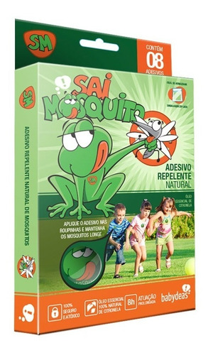 Sai Mosquito ® Adesivo Repelente Natural Original Eficiente
