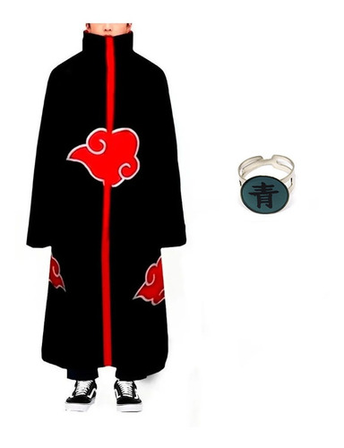 Kit Manto Akatsuki Fantasia Cosplay Naruto Anel Deidara M29