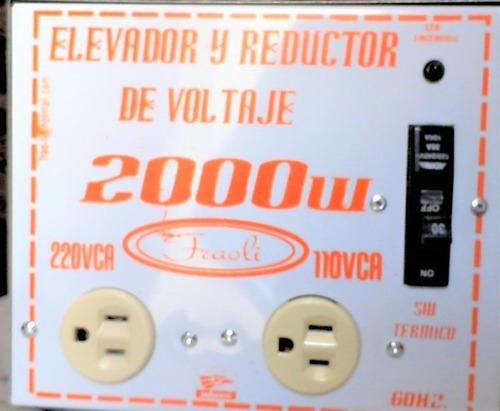 Transformador Voltaje 110 V 220v 2000w Rms Fraoli  Reforzado