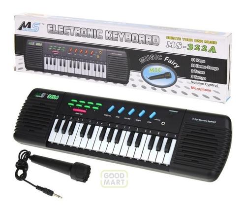 Teclado Piano Infantil Musical Music Center