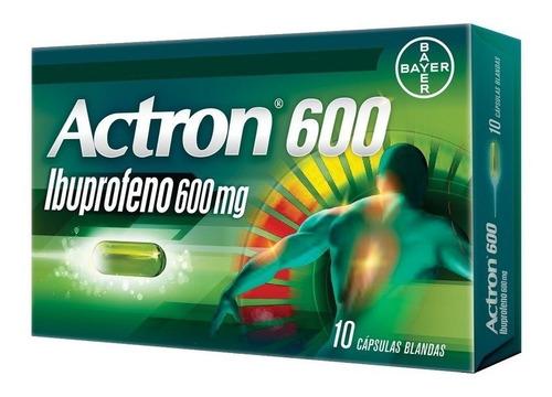 Actron 600 X 10 Cap. (ibuprofeno 600mg) AnaLGésico - Bayer®