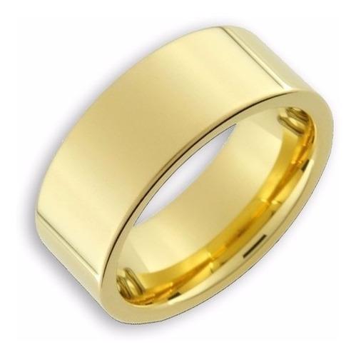 Aliança Avulsa Ouro Banhada Tungstênio Casamento Reta 8mm