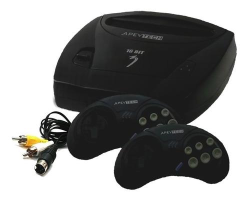 Consola Apevtech 16 Bit  Color Negro